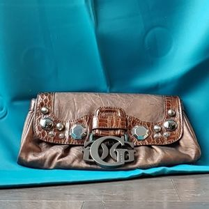 Guess Burnished Bronze Bejeweled Clutch